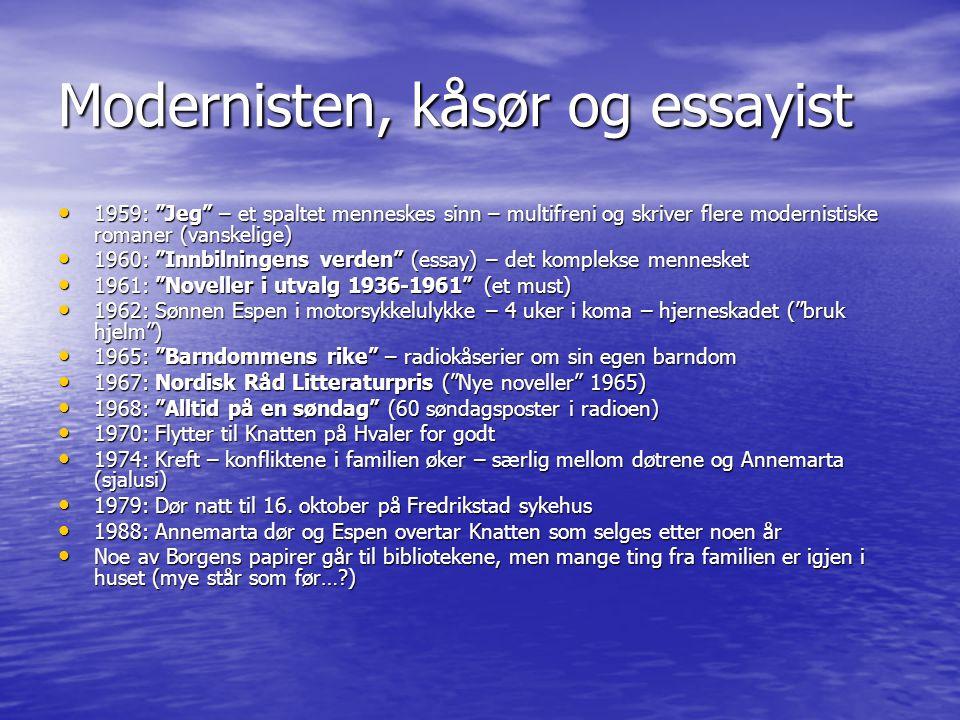 Johan og Annemarta • Annemarta når Johan ( Bums ) er utro med skuespillerinnen Liv Strømsted (Dommersnes) på 1950-tallet: Hvis du ikke straks avslutter forholdet til denne kvinnen, skyter jeg først deg og så barna… Forholdet reddes – og begge er i dag gravlagt på Knatten