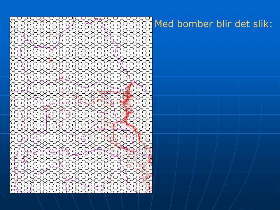 Bombs pr.hexagon