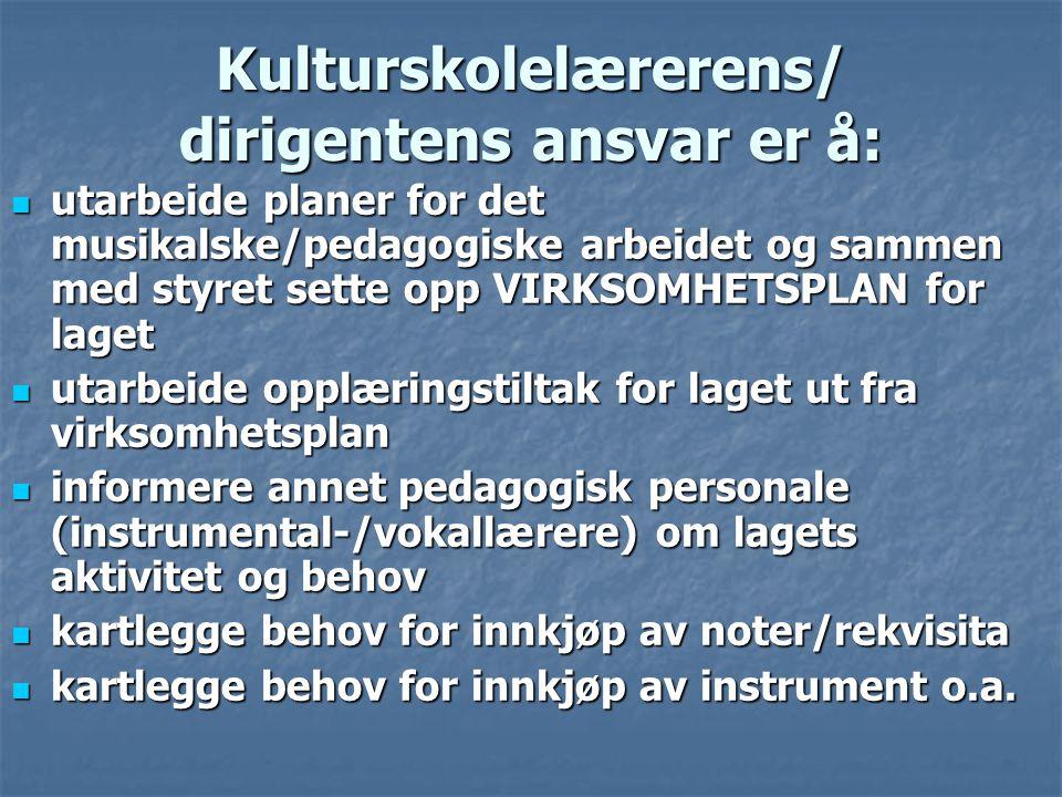 KULTURSKOLENS KRAV TIL AVTALEN: En årskontrakt følger et skoleår mht.