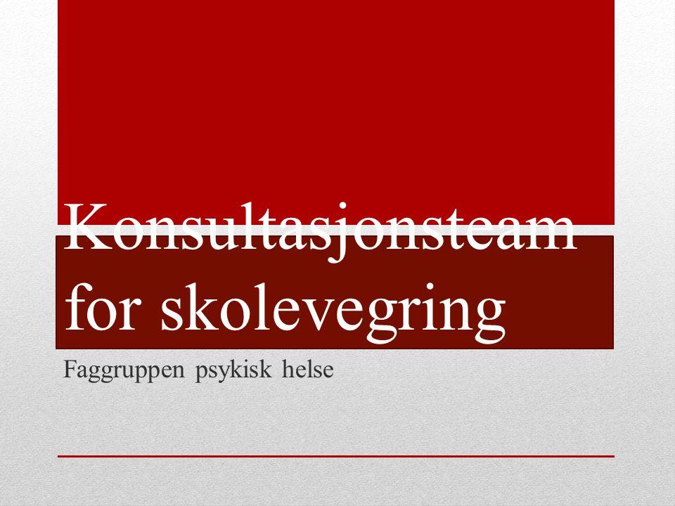 Bakgrunn Et tilbud i faggruppa siden 2005 Kunnskap om effekt av tidlig intervensjon Økende omfang/ økt fokus på skolefravær Skolevegring er et symptom – hver sak er unik PPT Stavanger 2