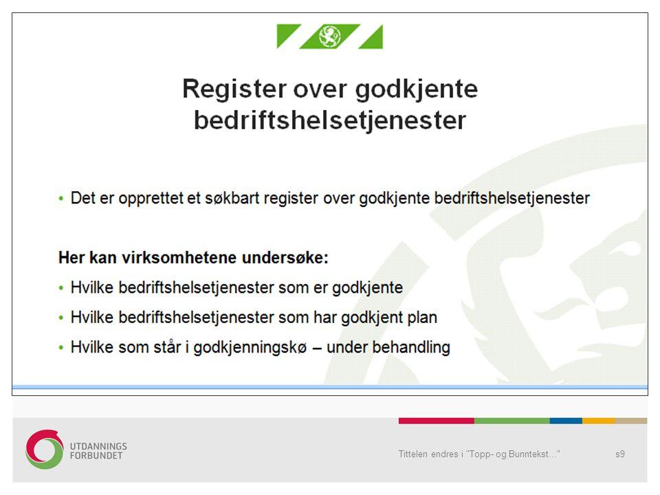Tittelen endres i Topp- og Bunntekst... s10