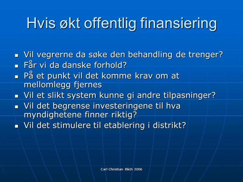 Carl Christian Blich 2006 Hvis generell trygderefusjon Vil dette forverre situasjonen i distriktene.