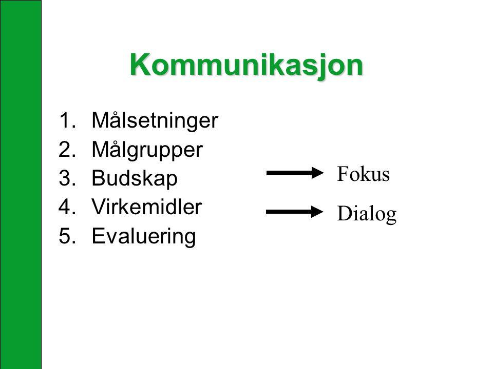 Omverdenanalyse Omdømme: Hvordan blir organisasjonen oppfattet i omgivelsene.