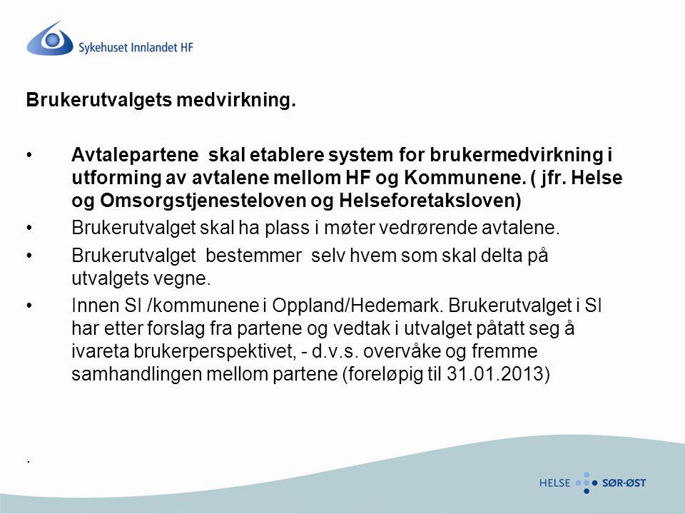 Brukerutvalgets plass i avtaleutforming Viktig å huske.