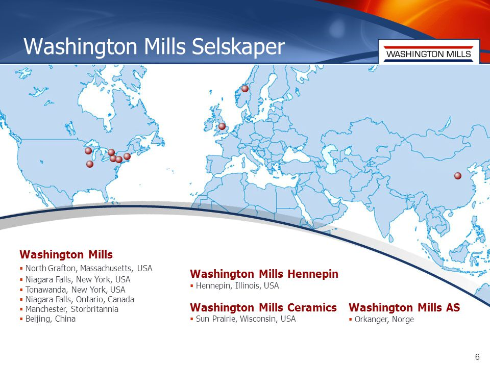 7 Dagens bruk av sjøtransport for Washington Mills  IMPORT:  Totalt importerer vi drøyt 20.000 tonn pågangsmateriale i året.