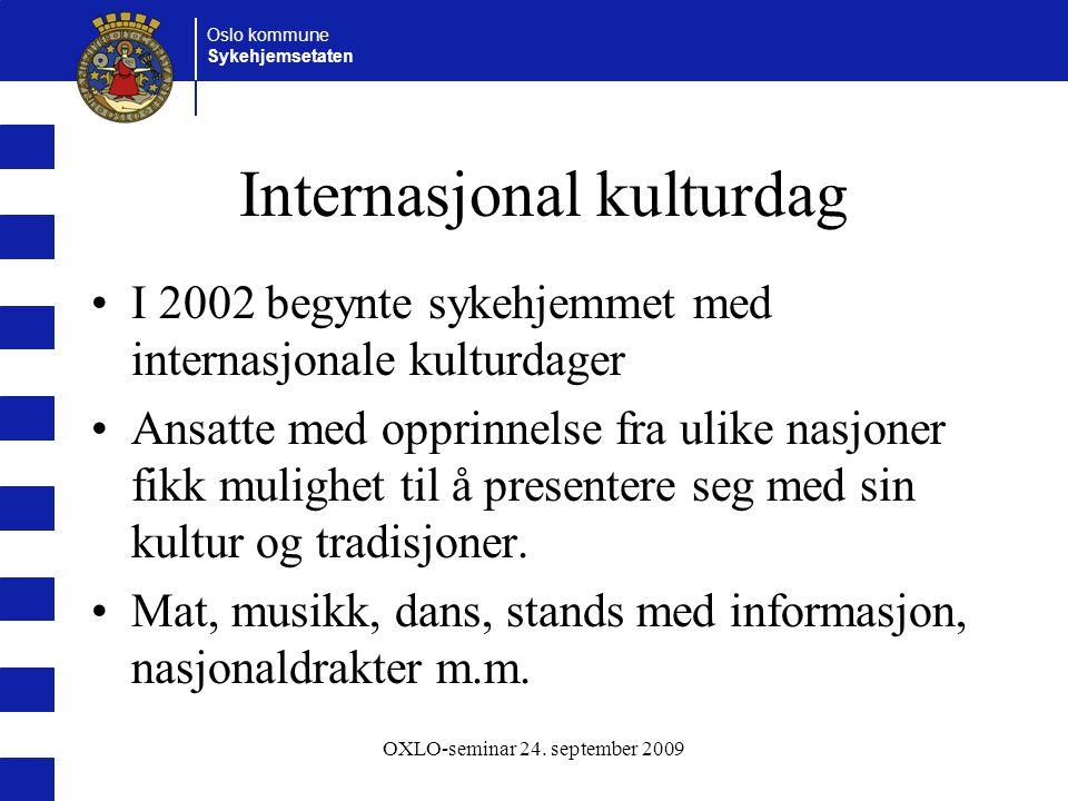 Oslo kommune Sykehjemsetaten OXLO-seminar 24.