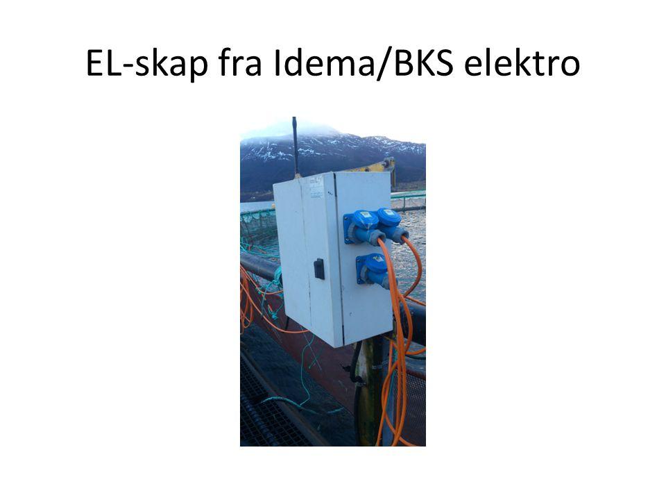 Skapets egenskaper/montering.Skapet er klassifisert som IP44.