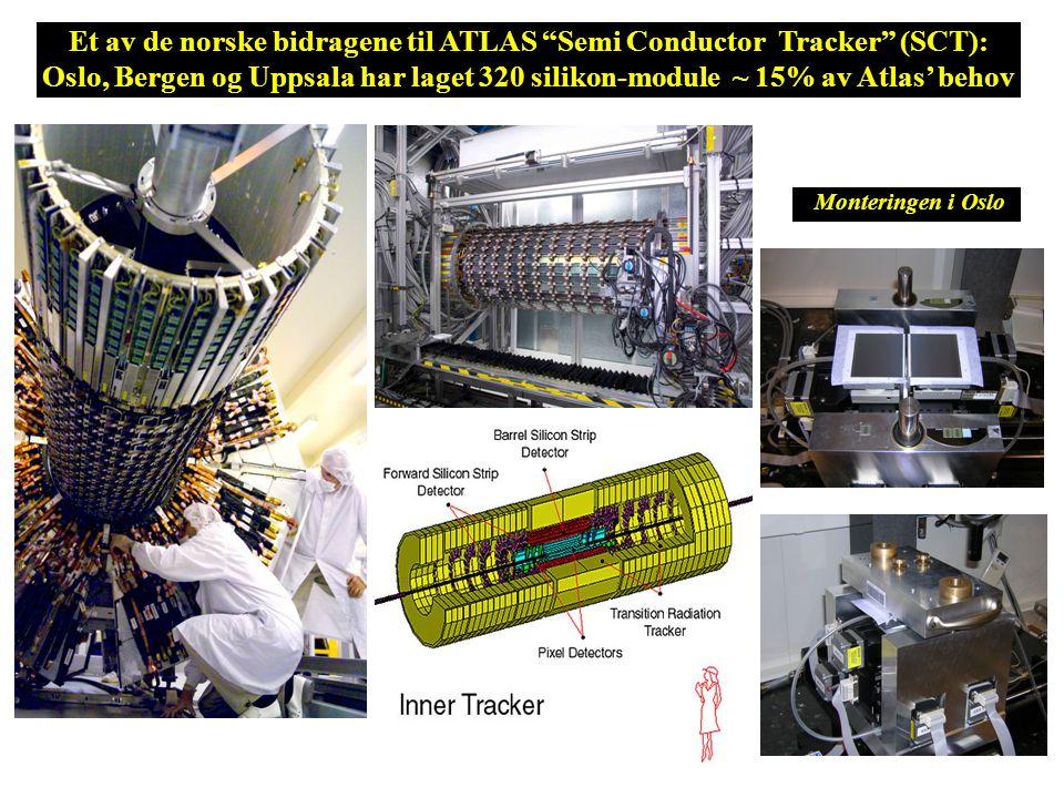 Lagring: Rå datarate på 0.1 – 1 GBytes/sek Total innsamling på 10-15 PetaBytes/år Prosessering: 200,000 av dagens raskeste PCer Utfordringen for databehandling ved LHC