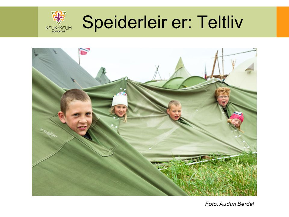 Speiderleir er: Vennskap Foto: Audun Berdal, Lars Mørk