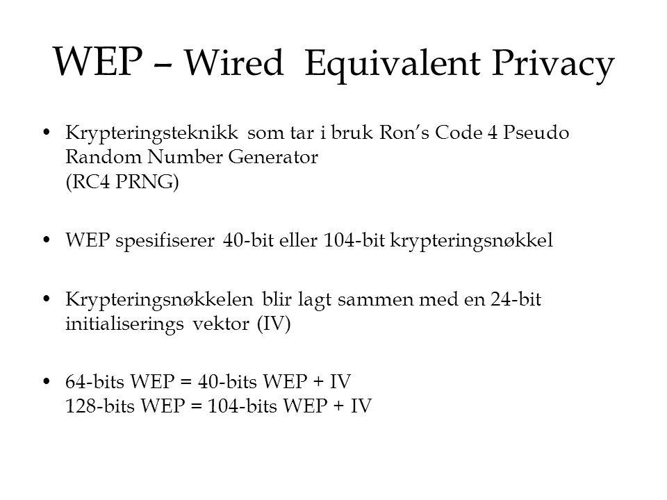 WEP Kryptering