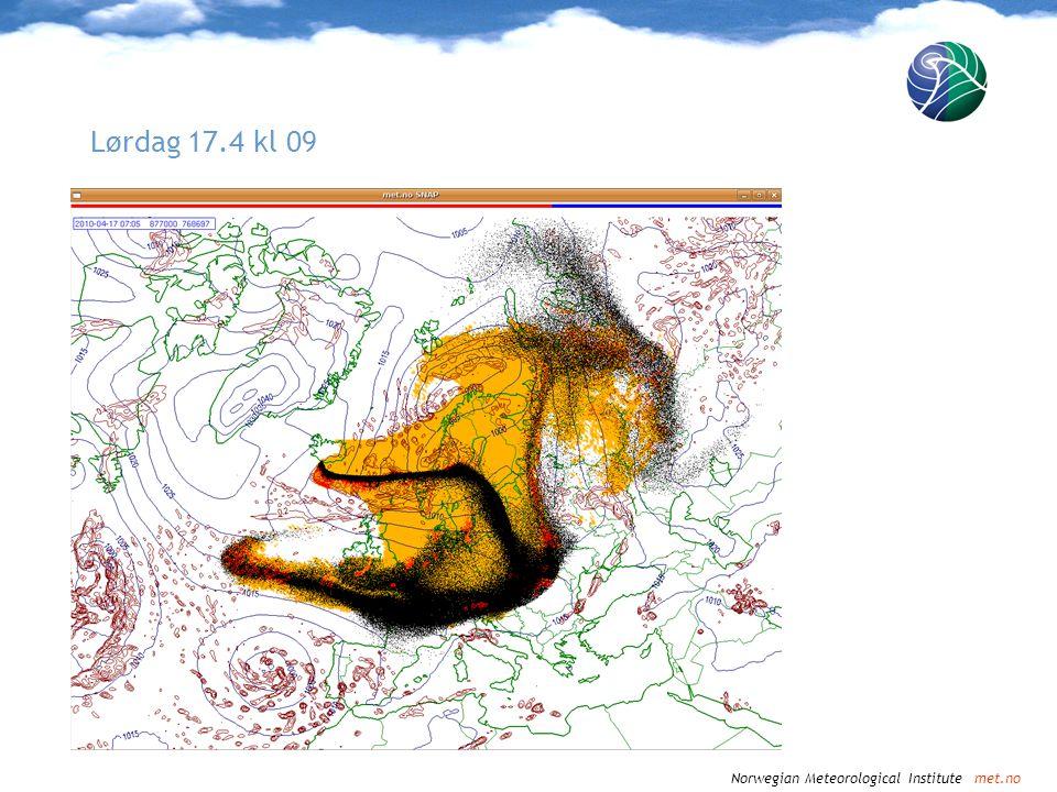 Norwegian Meteorological Institute met.no Lørdag 17.4 kl 12