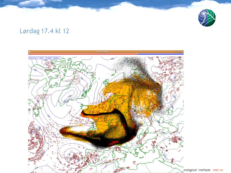 Norwegian Meteorological Institute met.no Lørdag 17.4 kl 15