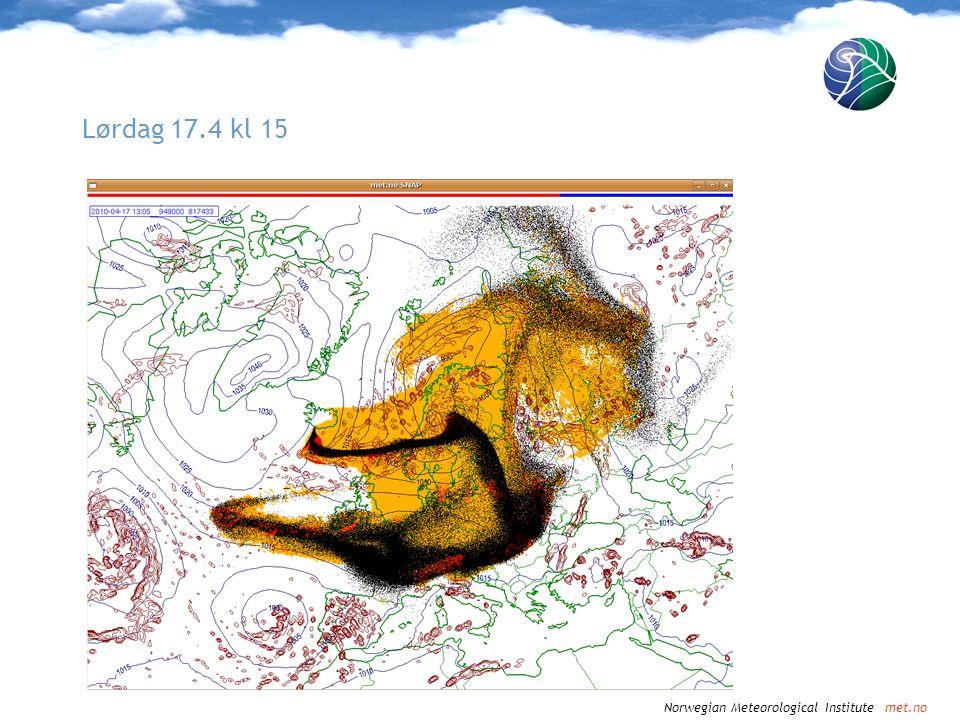 Norwegian Meteorological Institute met.no Lørdag 17.4 kl 18