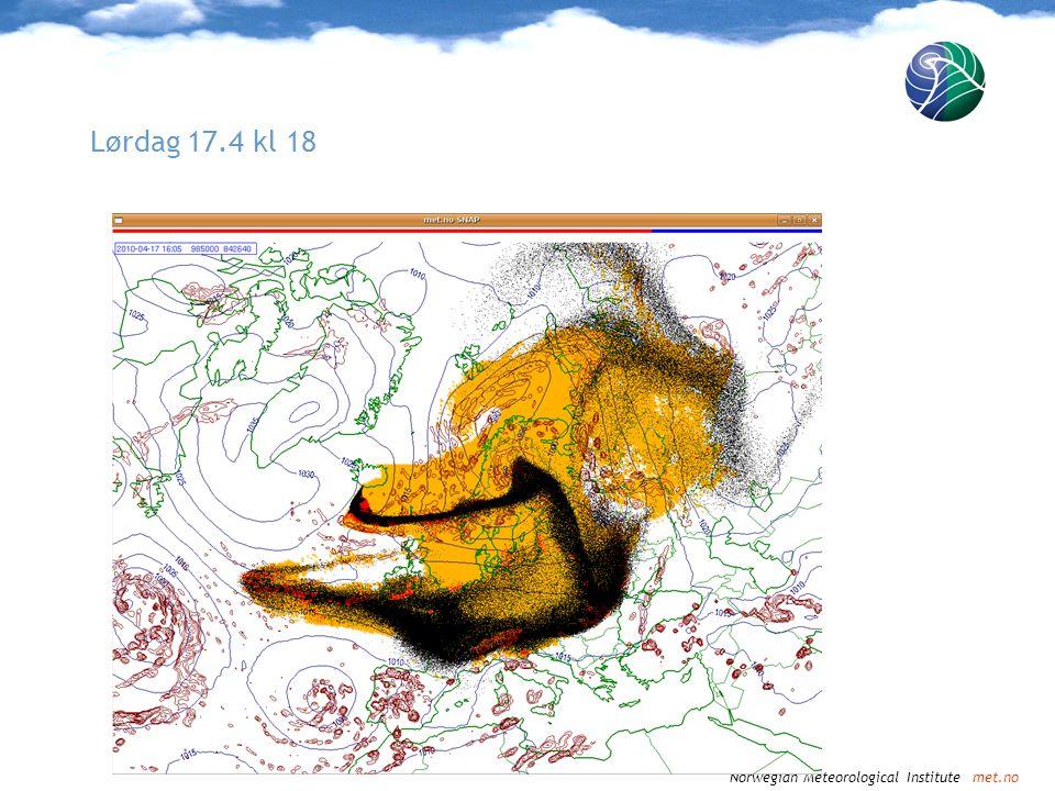 Norwegian Meteorological Institute met.no Lørdag 17.4 kl 21