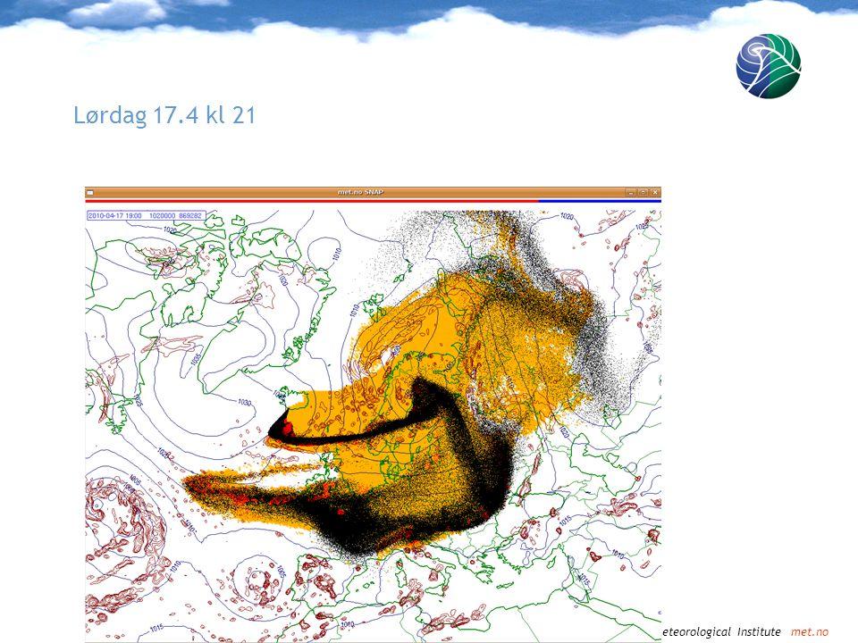 Norwegian Meteorological Institute met.no Søndag 18.4 kl.00