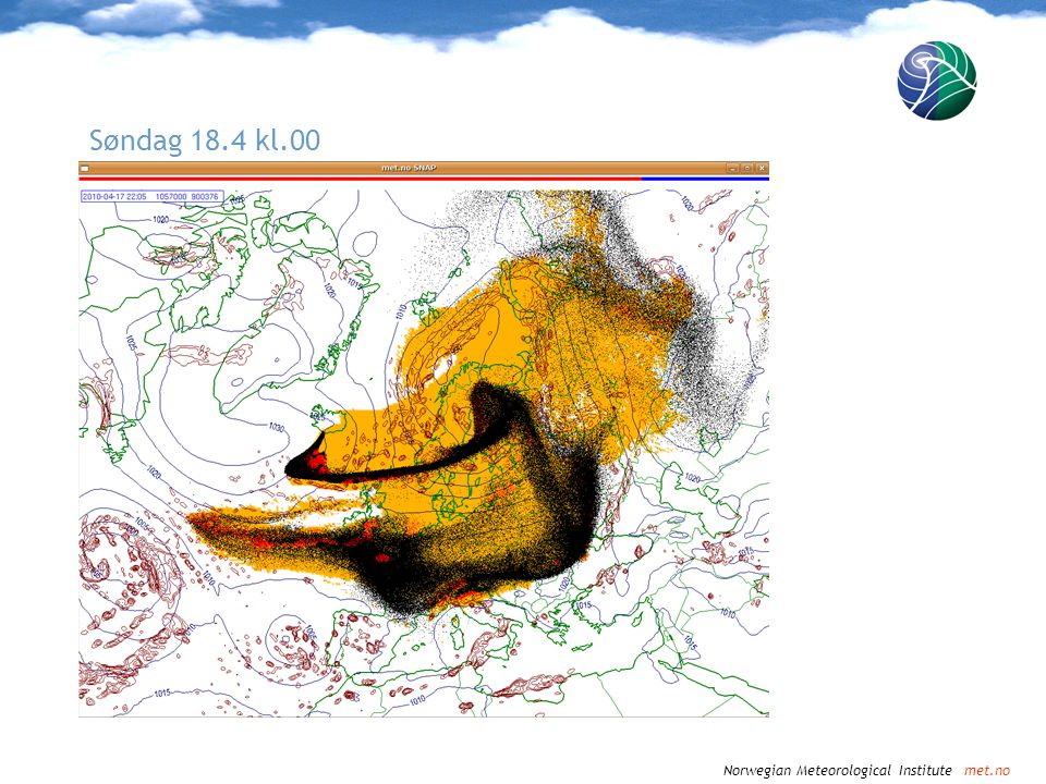 Norwegian Meteorological Institute met.no Søndag 18.4 kl.03