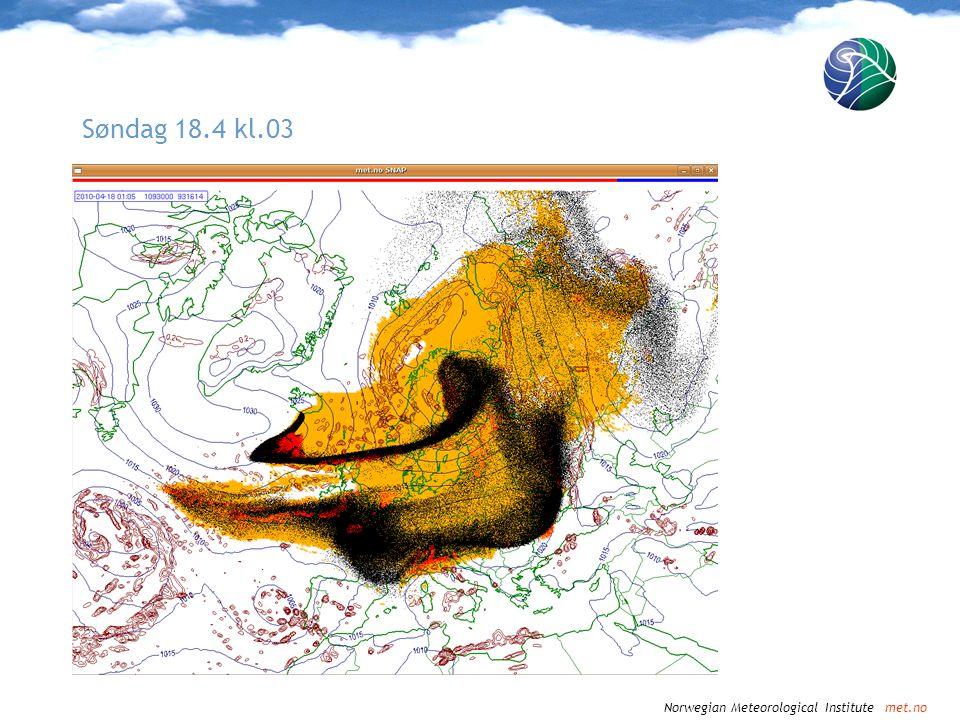 Norwegian Meteorological Institute met.no Søndag 18.4 kl.06