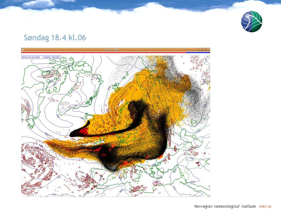 Norwegian Meteorological Institute met.no Søndag 18.4 kl.09