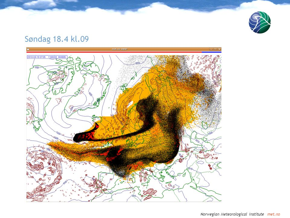 Norwegian Meteorological Institute met.no Søndag 18.4 kl.12