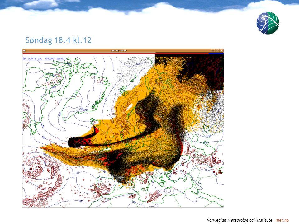 Norwegian Meteorological Institute met.no Søndag 18.4 kl.15