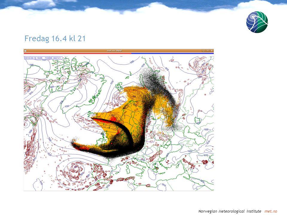 Norwegian Meteorological Institute met.no Lørdag 17.4 kl 00