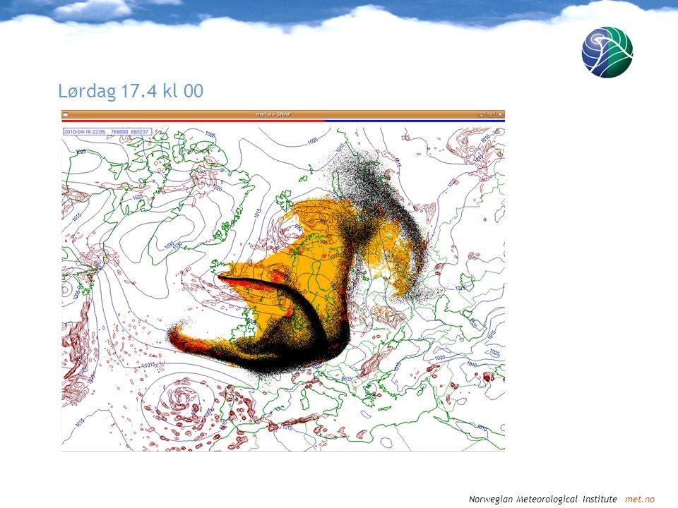 Norwegian Meteorological Institute met.no Lørdag 17.4 kl 03