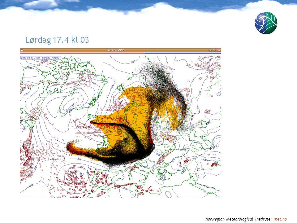Norwegian Meteorological Institute met.no Lørdag 17.4 kl 06