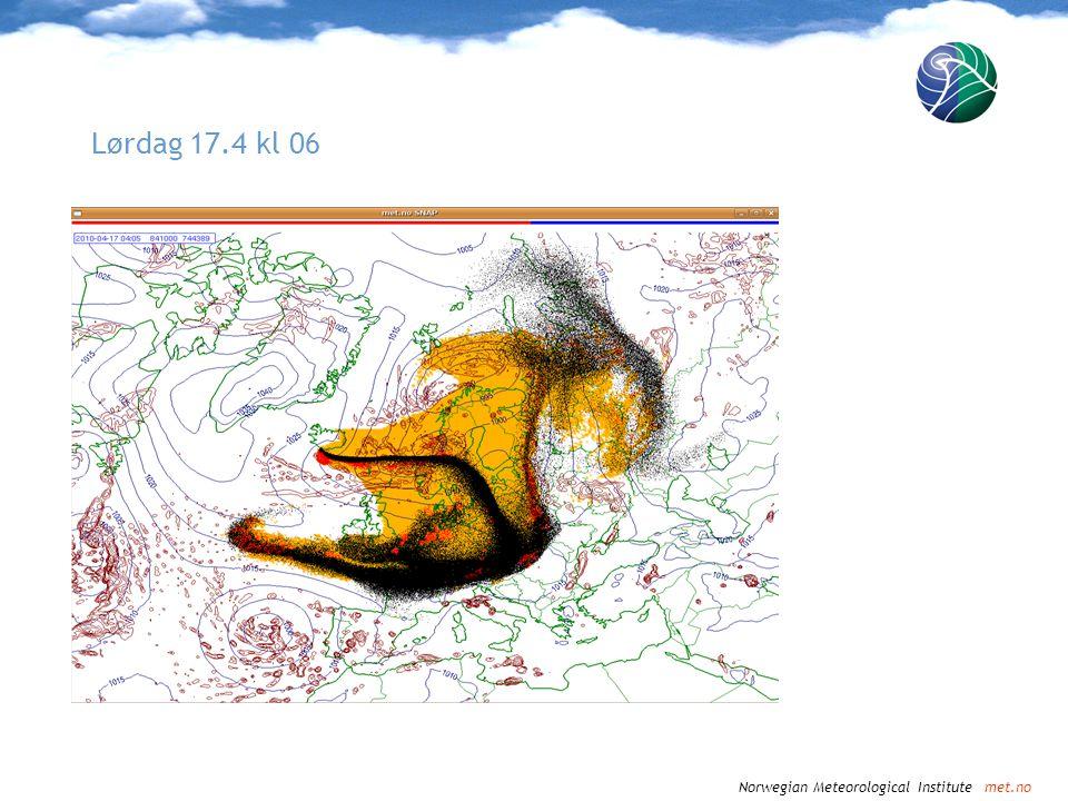 Norwegian Meteorological Institute met.no Lørdag 17.4 kl 09