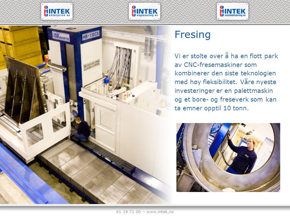 61 19 71 00 – www.intek.no Produkter fra offshore
