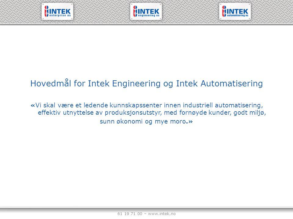 61 19 71 00 – www.intek.no Salgsavdeling Intek Aut.