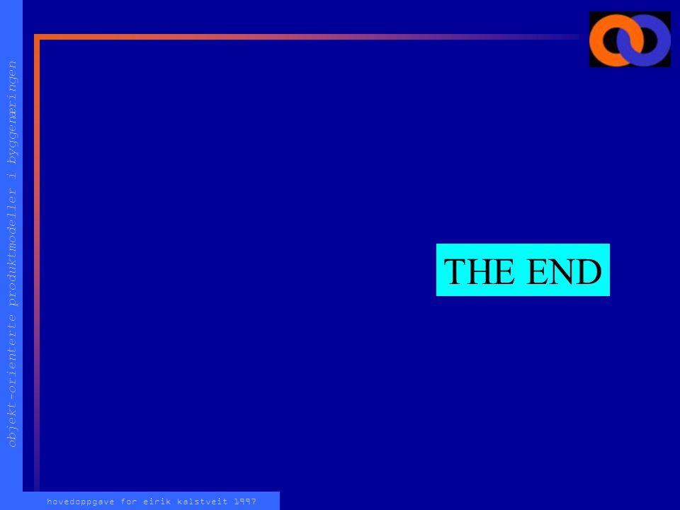 objekt-orienterte produktmodeller i byggenæringen hovedoppgave for eirik kalstveit 1997 THE END