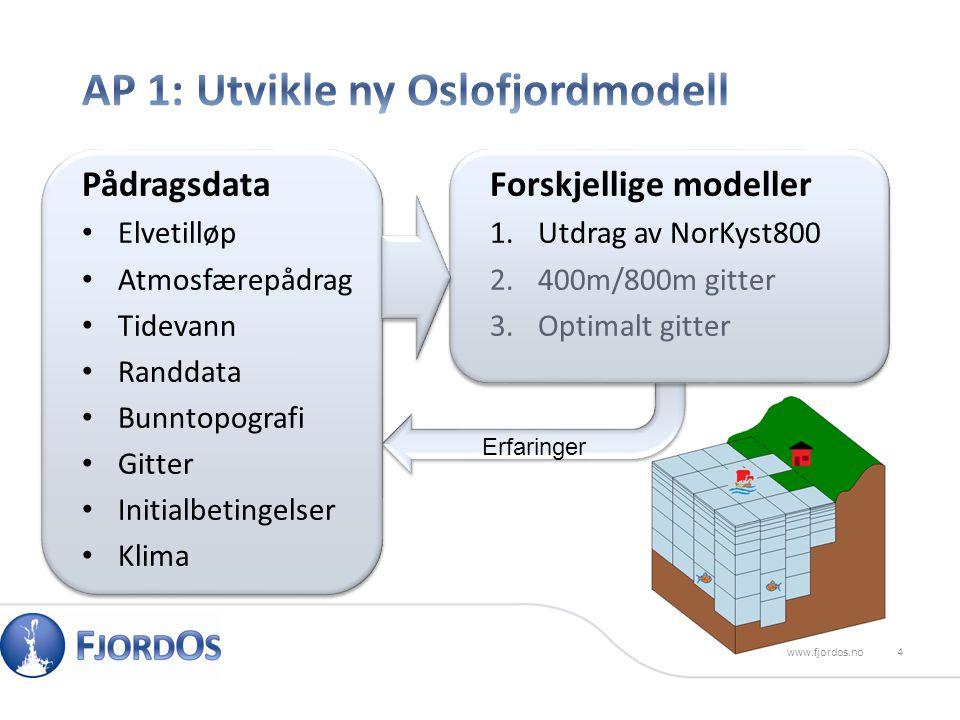 5www.fjordos.no Optimalt gitter 50x50 bokser Utdrag av NorKyst800 800m x 800m