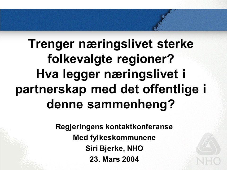 Norge må hevde seg bedre i det næringspolitiske kappløpet som pågår i Europa 1235791112 Kilde: World Competitiveness Scoreboard 2003, IMD.