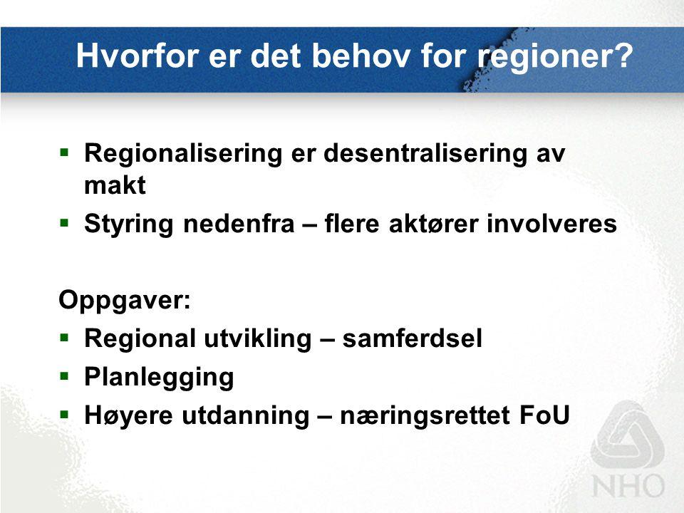 Den lille regionalpolitikken 1.Nordland203 mill.kr.