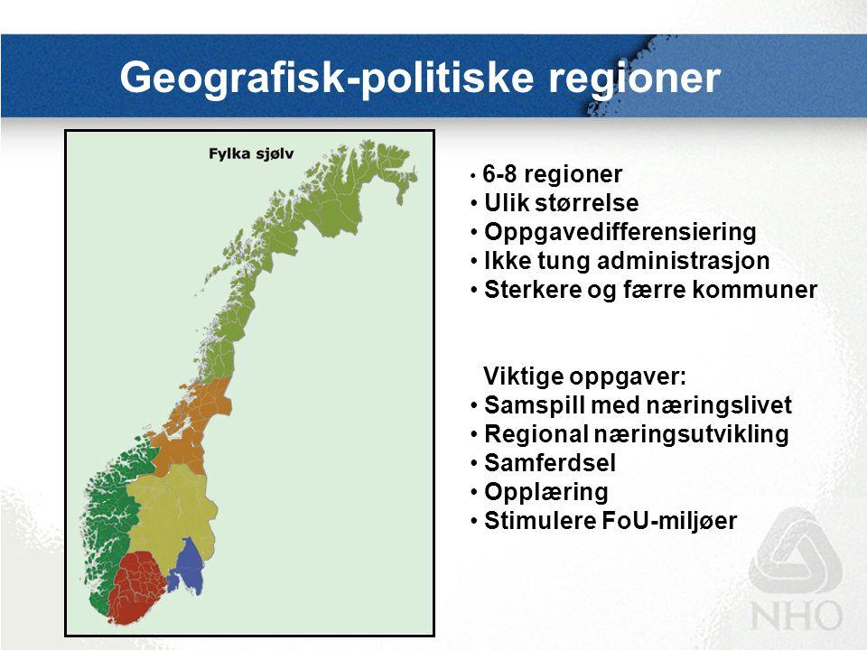 Mulige modeller for et regionnivå  Samordnet og regionalisert stat  Samarbeidende kommuner  Landsdelsforsamlinger Uansett må et helhetlig ansvar for regional næringsutvikling være en hovedoppgave