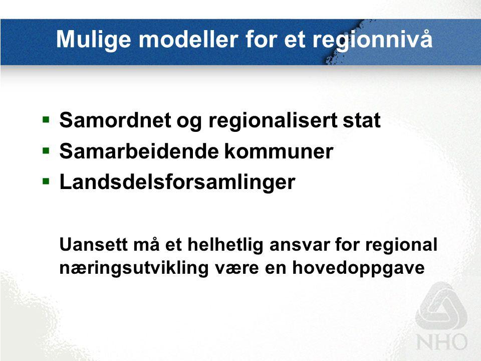 Positive signaler fra Regjeringen Erna Solberg: Det er ingen god løsning at staten vedtar en inndeling i fremtidige regioner, det være seg stor- fylker eller funksjonelle regioner.