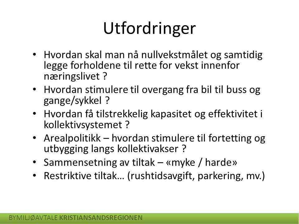 Foreslått utbyggingsmønster (KVU) - Kristiansandsregionen BYMILJØAVTALE KRISTIANSANDSREGIONEN