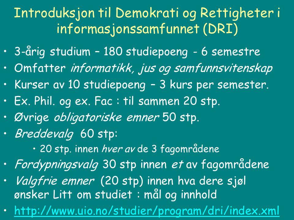 DRI - Studiemodellen :