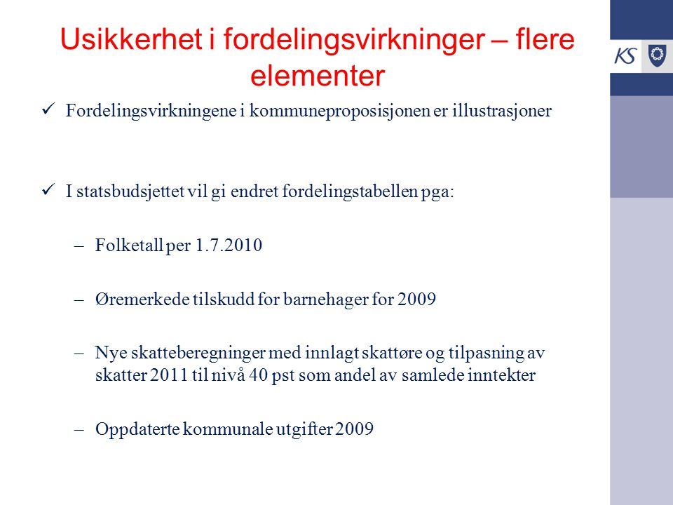 Virkningstabell vedlegg 7: Tall for utvalgte kommuner Kom.prop. Vedlegg 7