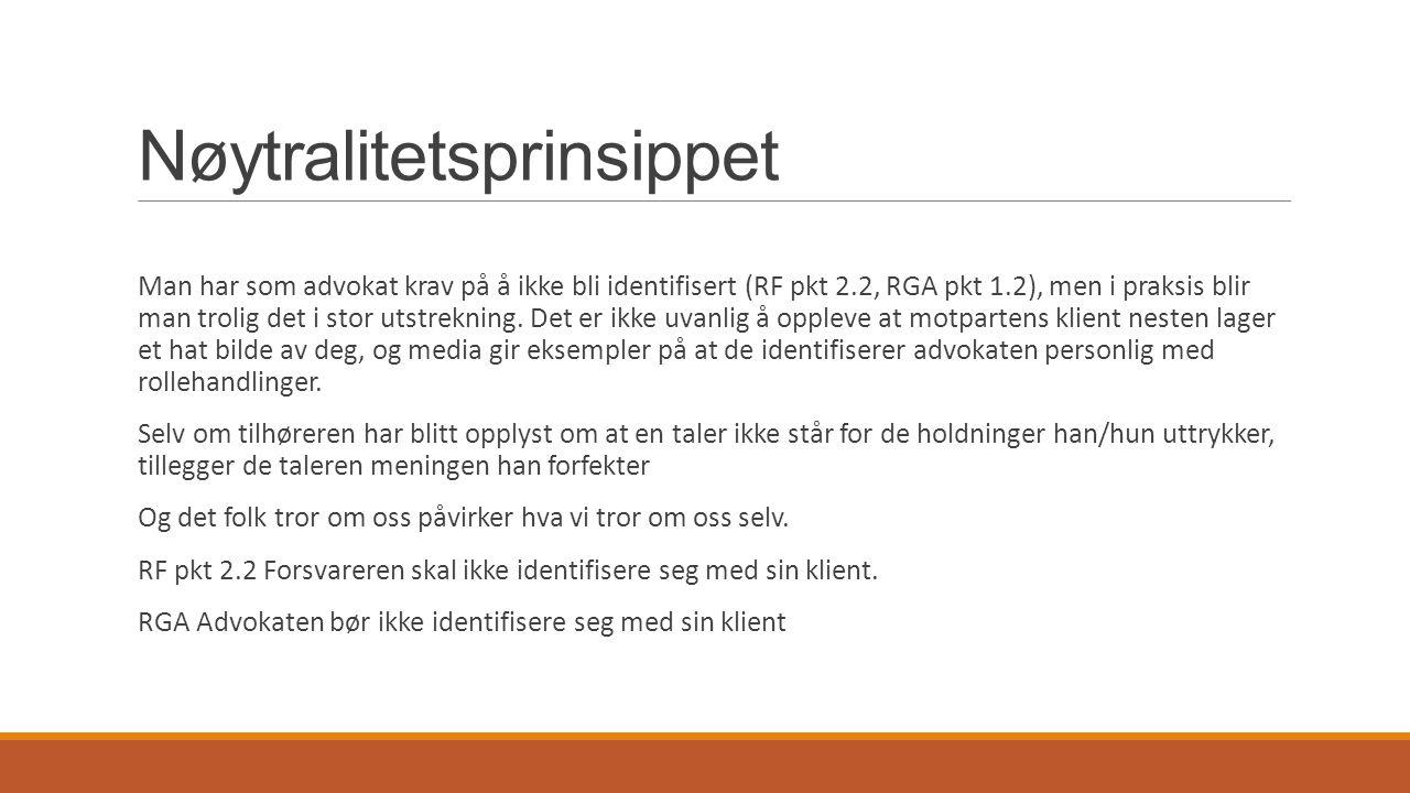 Nøytralitetsprinsippet Eksempler fra Media: Behring Breivik - saken Mullah Krekar – saken Lommemannen – saken