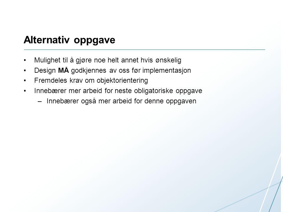 Innlevering inf1400-username-1/  --src/    --all the source files here    --README    --report.pdf MÅ være.pdf, Hvis ikke blir innleveringen ikke godkjent et zip eller tar.gz arkiv Frist: 13.