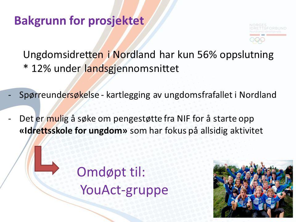 Kartlegging ungdom i Nordland -Over 80% driver med idrett fordi det er gøy.