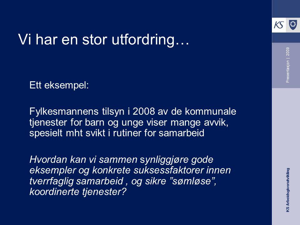 KS Arbeidsgiverutvikling Presentasjon | 2009 Vi bygger på erfaring.