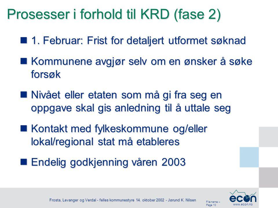 File name – Page 11 www.econ.no Frosta, Levanger og Verdal - felles kommunestyre 14.