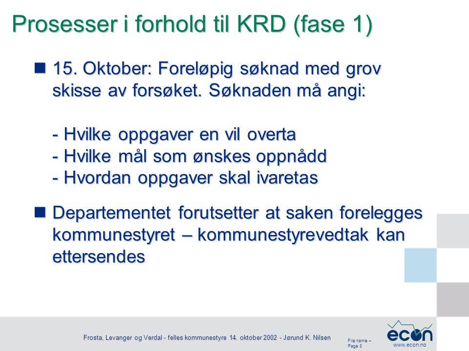 File name – Page 9 www.econ.no Frosta, Levanger og Verdal - felles kommunestyre 14.