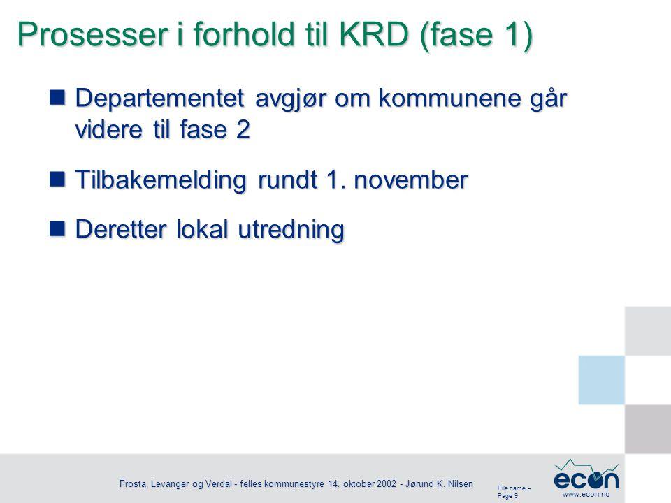 File name – Page 10 www.econ.no Frosta, Levanger og Verdal - felles kommunestyre 14.