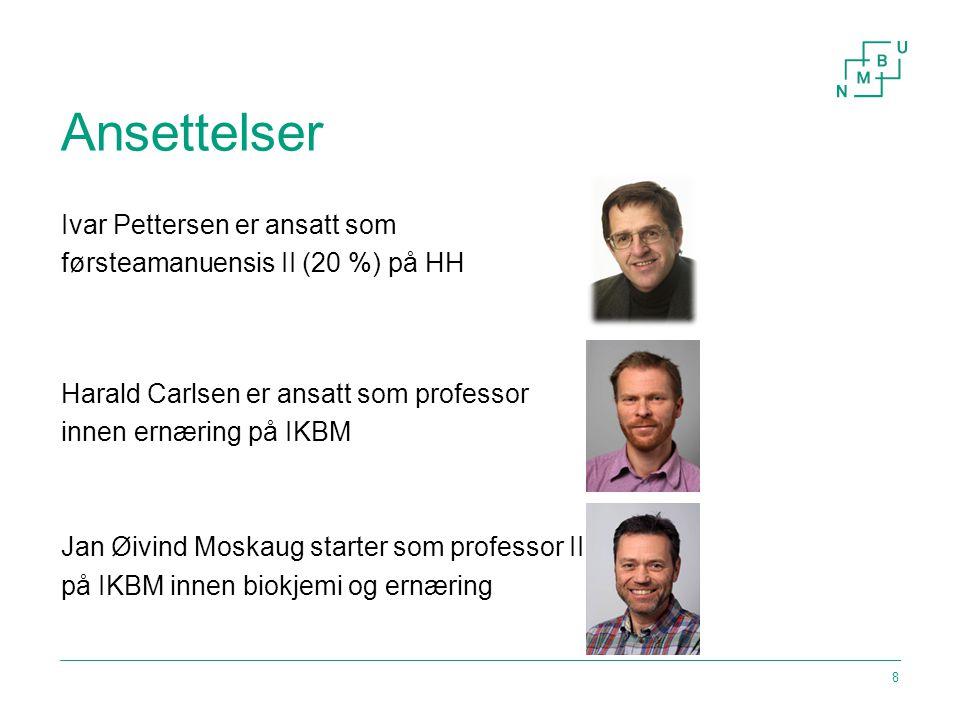 Hovedområder for Matsatsingen Norges miljø- og biovitenskapelige universitet9 SYNLIGGJØRING FORSKNING UTDANNING