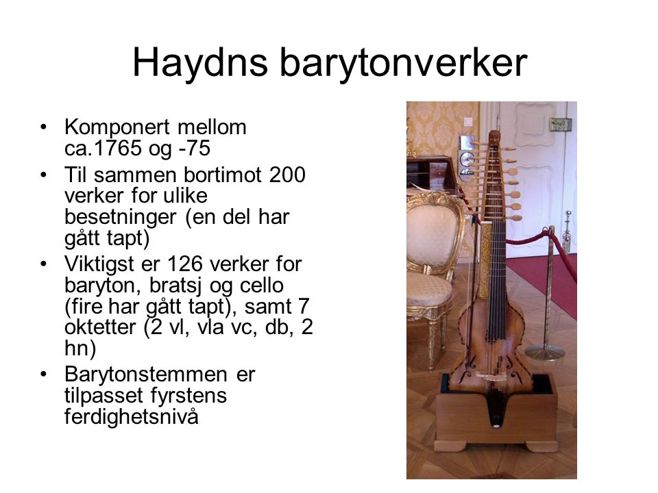 Joseph Haydn: Trio nr.71 A-dur for baryton, bratsj og cello, 3.