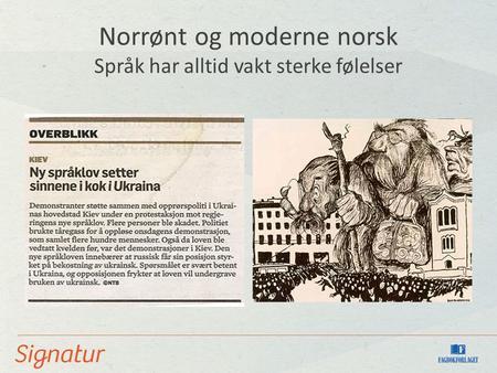Likheter mellom norrønt og moderne norsk språk