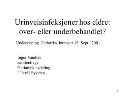 lettere urinveisinfeksjon ved slanking